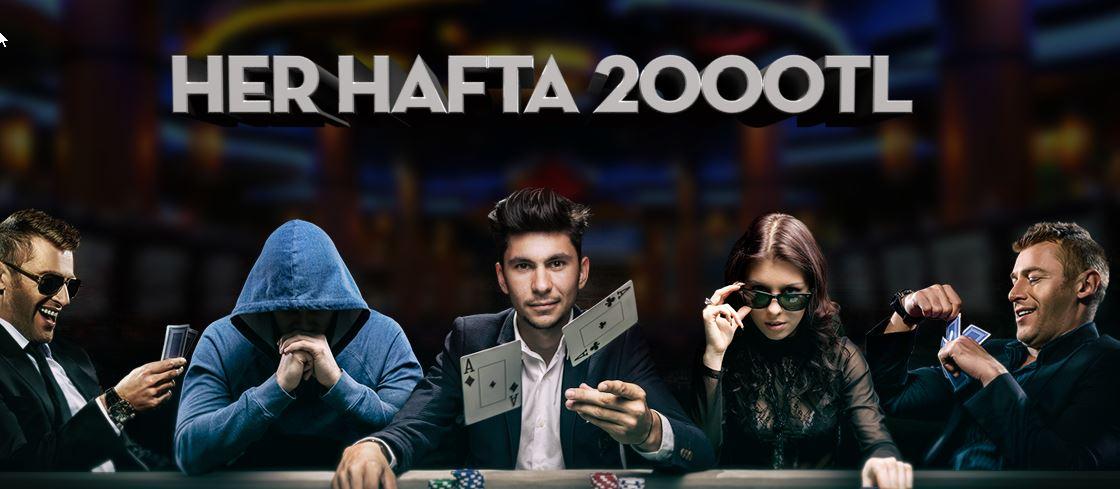 Her Hafta 2000 TL Nakit Ödül Poker Turnuvalarında